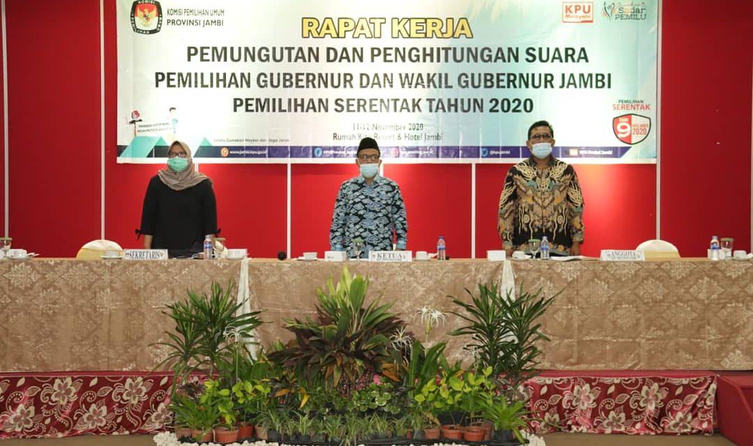 KPU Provinsi Jambi Rapat Kerja Pemungutan dan Penghitungan Suara