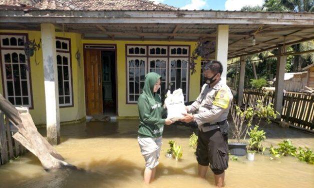 389 Rumah Terdampak Banjir di Desa Pulau Kayo Aro