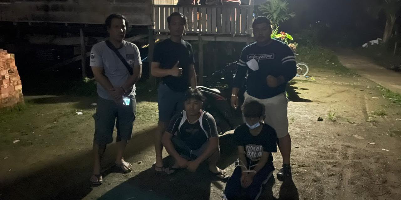 TIM Rajawali dan KBO sat reskrim polres muaro jambi pimpin penangkapan pelaku Curanmor