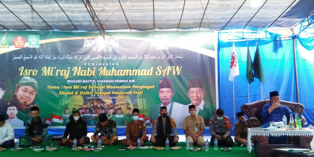 IPDA Candra menghadiri kegiatan peringatan isra miraj Nabi Muhammad SAW
