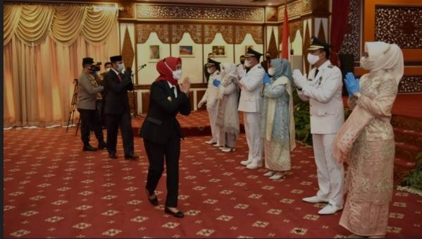 Resmi dilantik jadi Bupati dan Wakil Bupati Tanjung Jabung Barat Secara Virtual