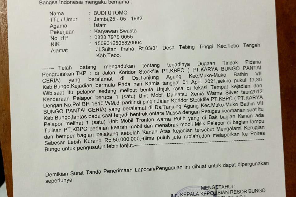 Ketua IJTI Jambi Menentang Keras ,Atas Tindakan Kekerasan ,Pengrusakan dan Pelecehan Profesi kepada Jurnalis INews TV Budi Utomo
