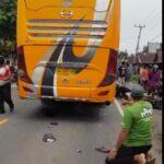 Kecelakaan Bus Handoyo Dengan Sepeda motor Beat