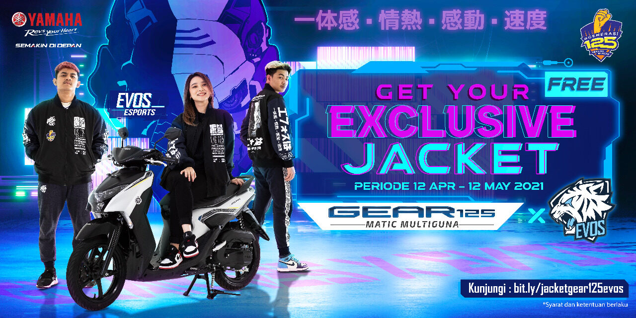 Pasti Keren! Beli Yamaha GEAR 125 Dapat Exclusive Jacket GEAR 125 x EVOS