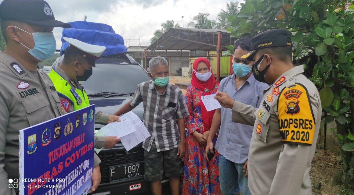 Polres Muaro Jambi perketat penjagaan di perbatasan dalam rangka larangan mudik lebaran 2021