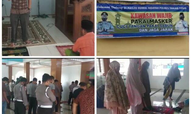 Kabag Sumda Polres Tanjabtim Perketat Jamaah Di Masjid Nurul Hidayah