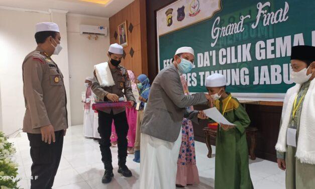 Gema Membumi Polres Tanjab Barat Cetak Generasi Berakhlak Mulia Lewat Festival Da'i Cilik