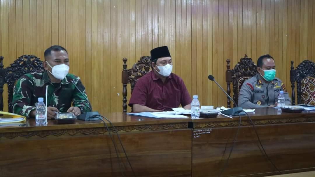Wakil bupati Tanjab barat Pimpin Rapat Pembahasan Kegiatan Satgas Covid 19