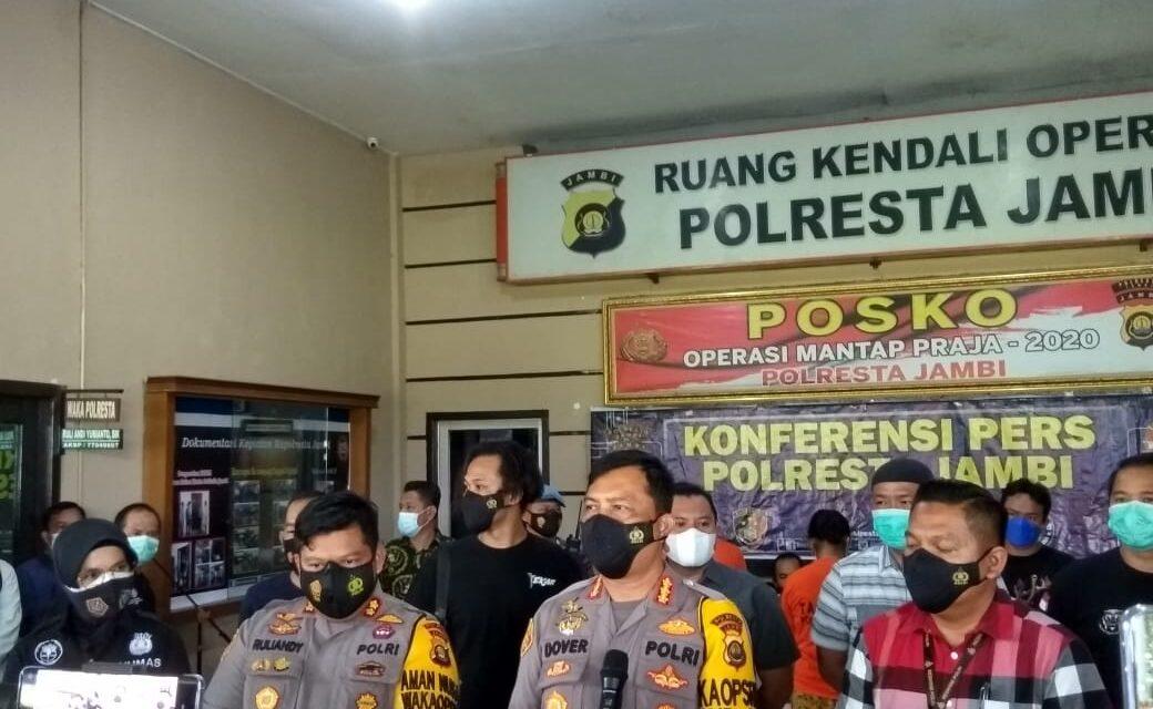 Satreskrim Polresta Jambi Meringkus Pasutri Pembunuh Karyawan Koperasi