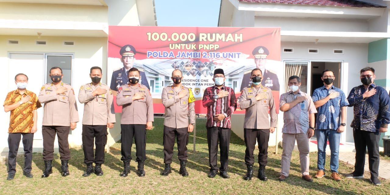 Polda Jambi Penyedia Perumahan Terbanyak dalam Launching 100.000 Rumah Untuk PNPP