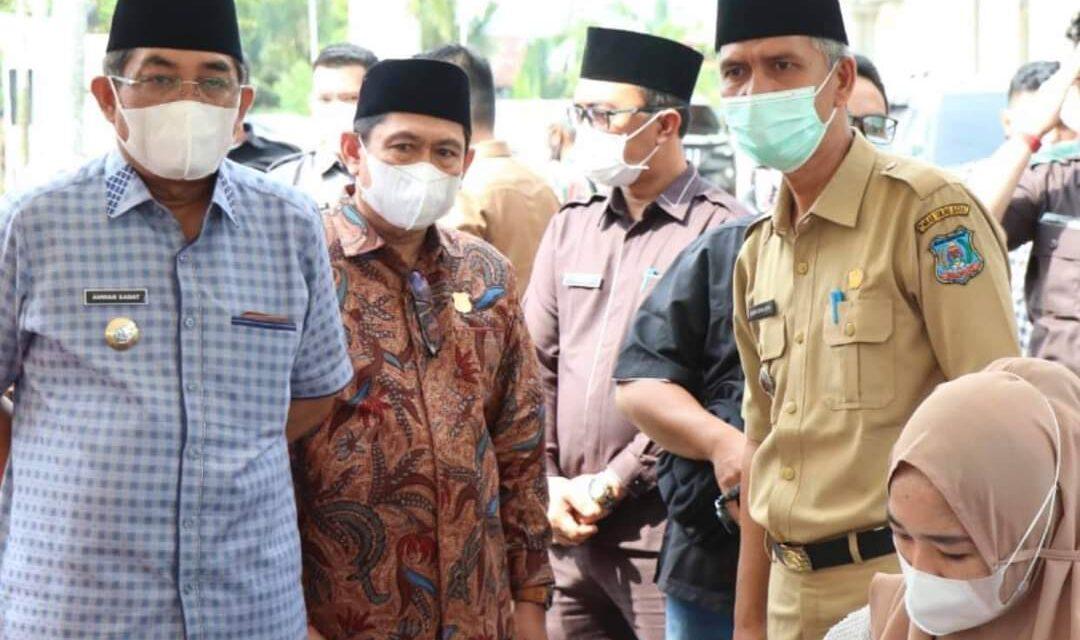 Ketua DPRD Tanjab Barat Menghadiri Acara Launcing Gerakan Pekan Vaksinasi Lansia Se-Provinsi Jambi