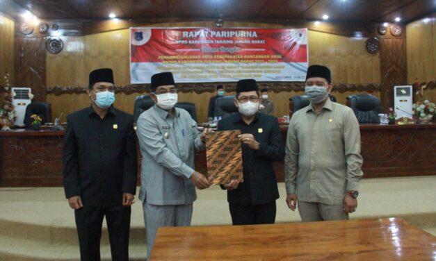Bupati menghadiri Rapat Paripurna Dprd Tanjab Barat dalam rangka RPJMD Kabupaten Tanjabbar 2021-2026
