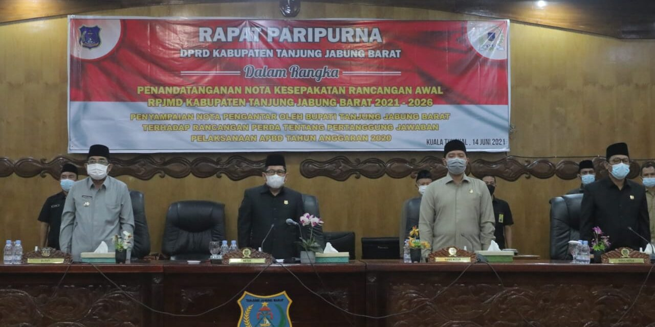 DPRD Tanjab Barat Lakukan Rapat Paripurna Nota Pengantar Ranperda Pertanggungjawaban Bupati