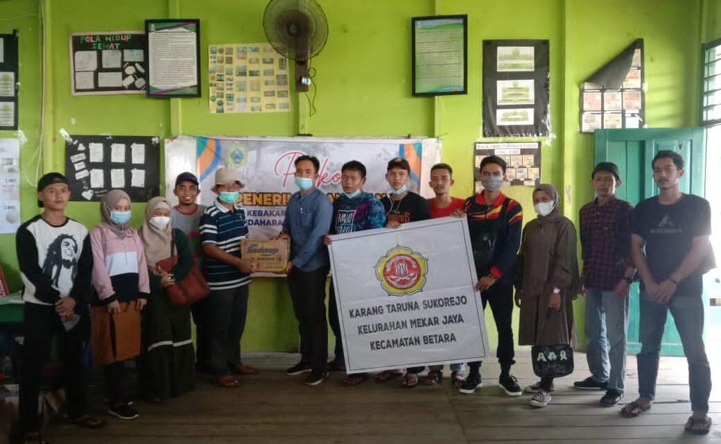 Pemuda -Pemudi Karang Taruna Sukorejo Kecamatan Betara melakukan Aksi Galang Dana untuk korban kebakaran kec Mendahara Tengah