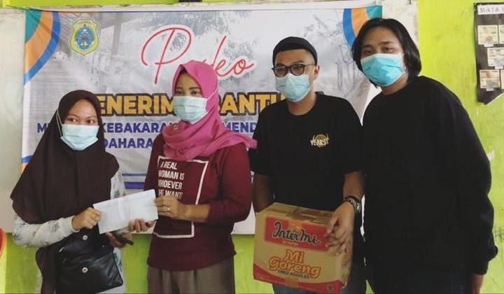 IKAMPETA Gelar Aksi Penggalangan Dana untuk korban kebakaran ,Desa kampung lama kecamatan Mendahara Tengah