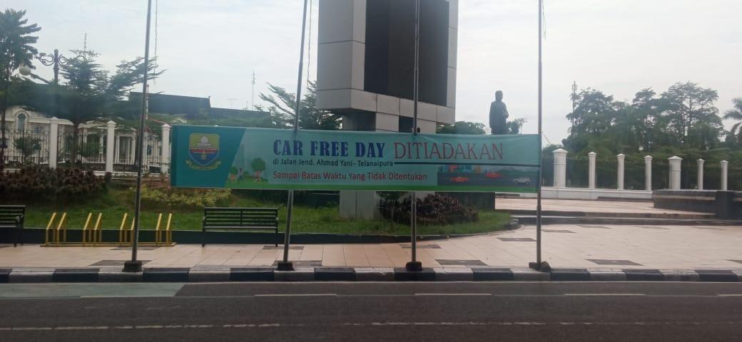 Car Free Day Di telanaipura resmi ditutup sebagai upaya pencegahan dan pengendalian virus covid-19