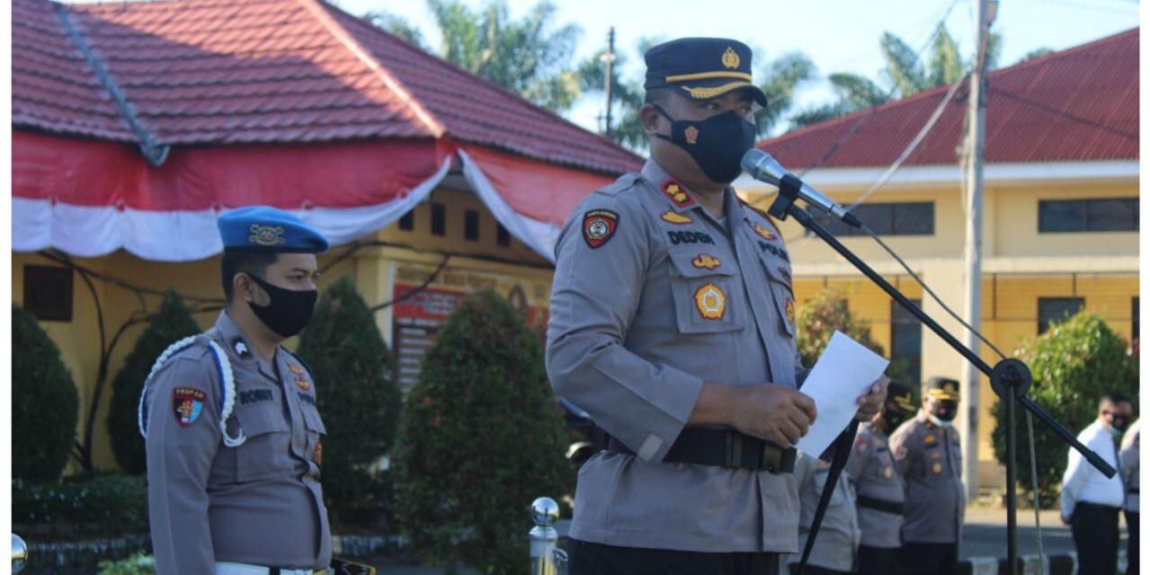30 Personil Polres Tanjabtim Berprestasi Terima Penghargaan