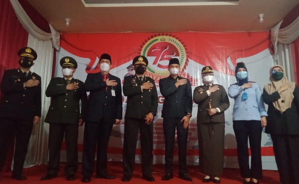 Kapolres Muaro Jambi bersama Forkopimda Laksanakan Upacara Secara Virtual Rangka Hari Bhayangkara Ke 75