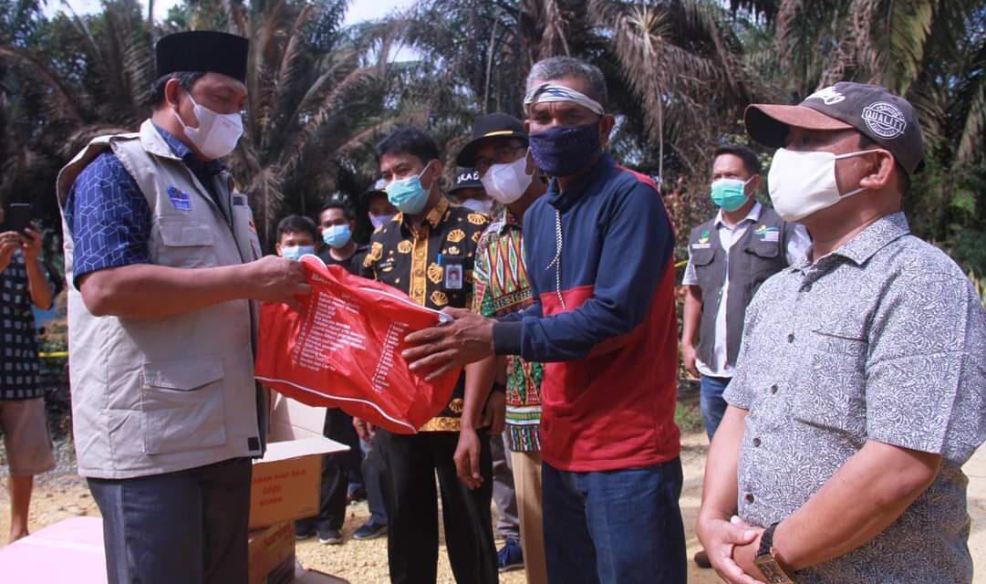 Wabup Tanjab Barat Meninjau Lokasi Kebakaran Desa Suban