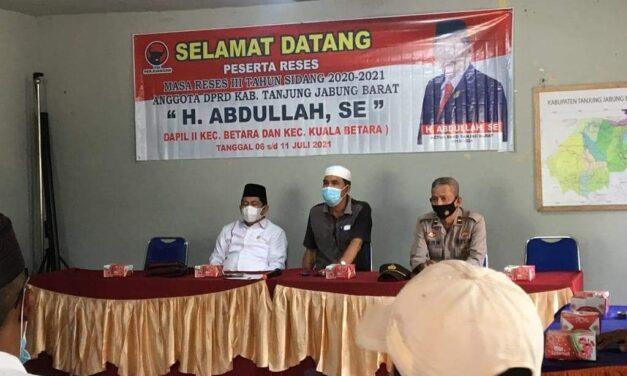 Saat Reses Ketua DPRD Abdullah Sambangi 2 Desa Kecamatan Betara