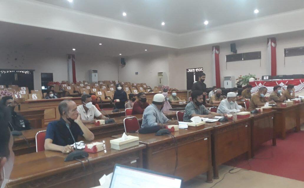 Terjadi Sengketa Lahan Kelompok Tani Mekar Jaya Dengan WKS, Komisi II DPRD Tanjabbar Gelar Rapat Mediasi