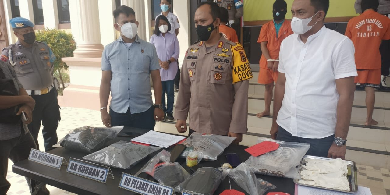 3 Pelaku Pencurian Dan Pembunuhan Sadis Berhasil ditangkap Tim Gabungan Polres Tanjab barat