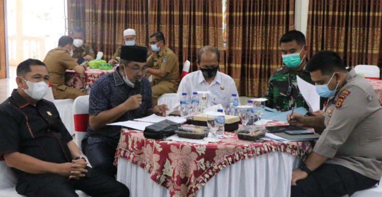 Melonjaknya Tingkat Kematian Suspect Covid-19, Bupati Anwar Sadat Pimpin Rapat Satgas