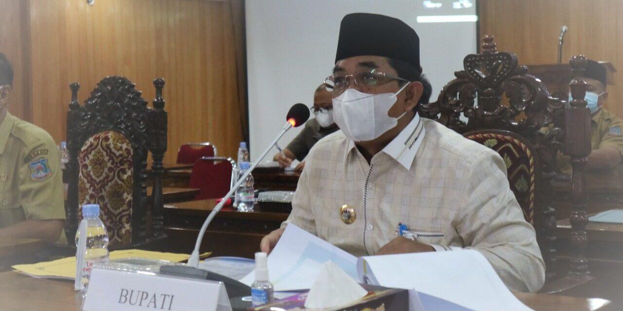 Inspektorat Tanjab Barat Bersama Bupati Tanjab Barat, menghadiri dan Membuka Rapat Video Conference Monitoring dan MCP