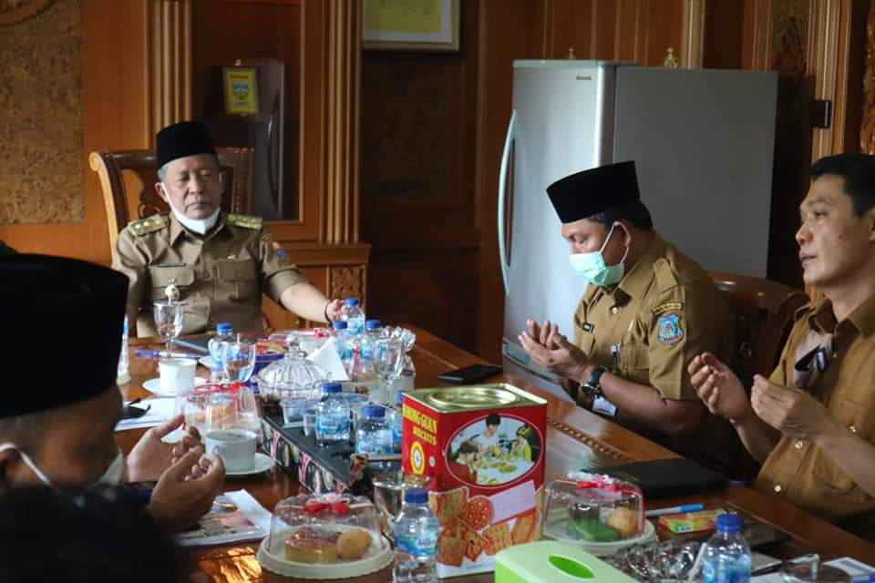 Wakil Bupati Tanjab Barat Laksanakan Koordinasi Bersama Pemprov Jambi Terkait Prokes MTQ Ke -50