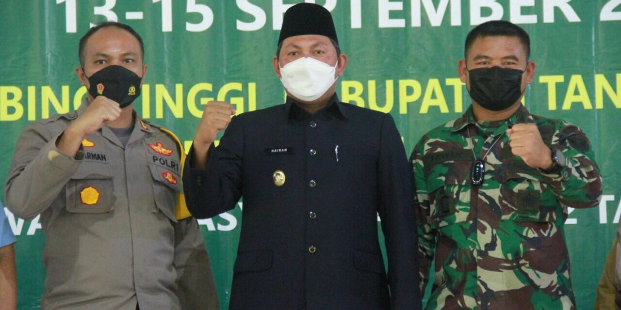 Wabup Tanjab Barat Bersama Dandim dan Kapolres Tanjab Barat Tinjauan Giat Serbuan Vaksin TNI yang diadakan Kodim 0419 dan PT LPPPI