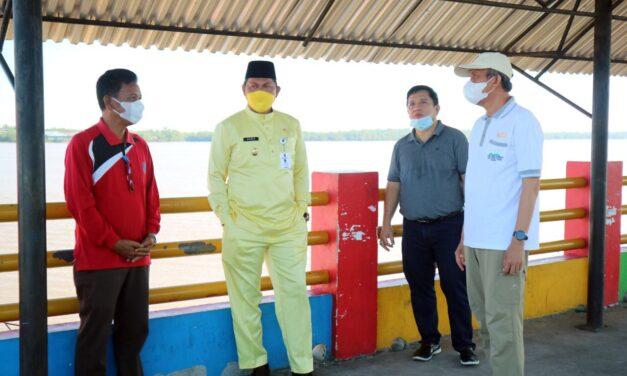 Jumat Bersih Jelang MTQ, Wabup Hairan Pimpin Pembersihan WFC