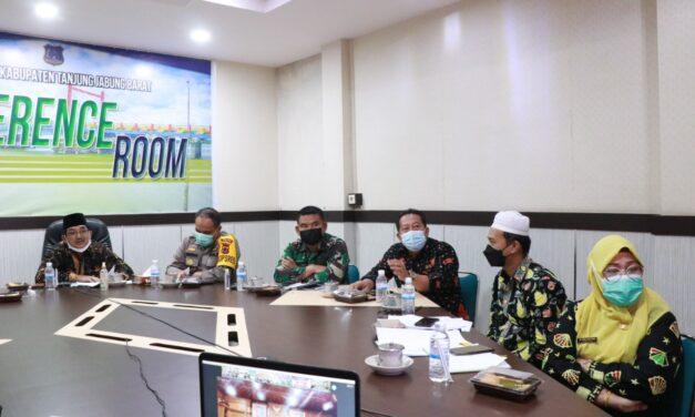 Bupati Tanjab Badat Menghadiri Rakor Penanganan Covid-19 dan Inmendagri No. 44 Tahun 2021